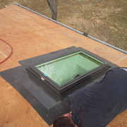 Re-Roof experts Oshawa - Skylights - EPDM rubber flat roofing