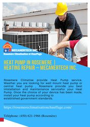 Heat Pump in Rosemere | Heating Repair – Mecanertech Inc.