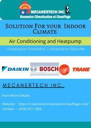 Solution For your  Indoor Climate   Rosemere Climatisation et Chauffag