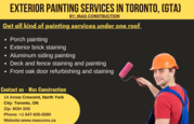 Exterior Painting Services by Exterior Painter in Toronto